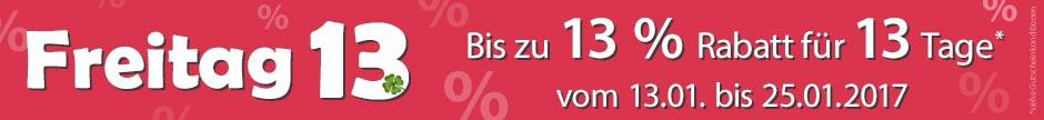 13% auf alles