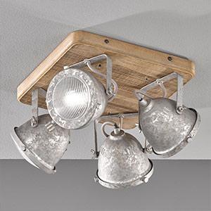 Deckenleuchten aus Holz | Lampenwelt.at