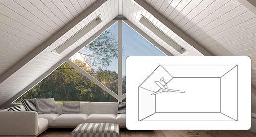 Ventilatoren in Dachschrägen