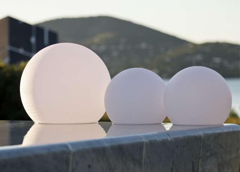 ausen kugel lampen für säulen mit bewegungsmelder